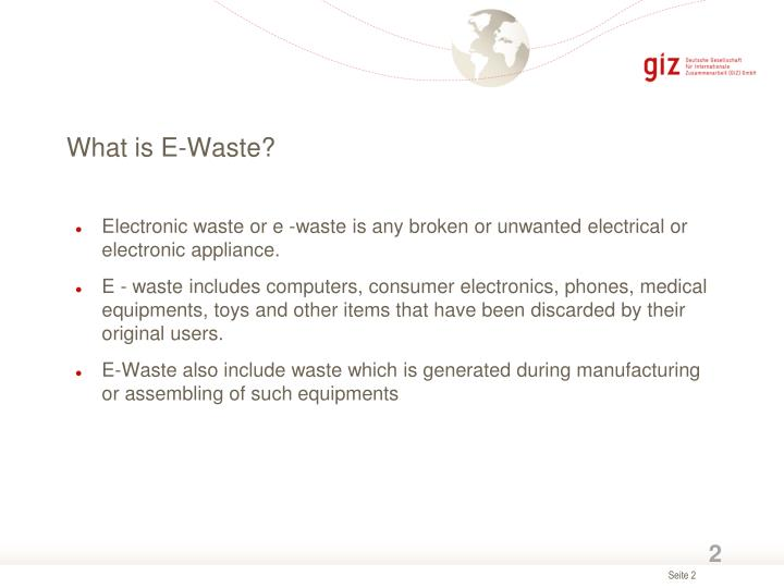 What is e waste
