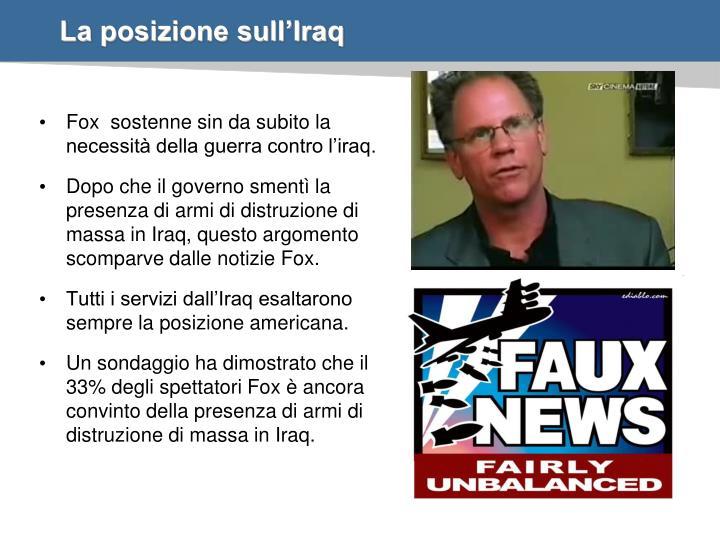 La posizione sull'Iraq