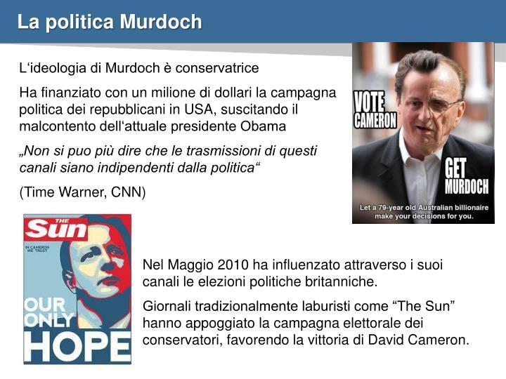 La politica Murdoch