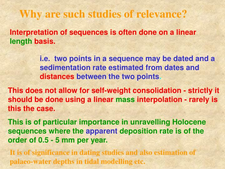 Why are such studies of relevance?