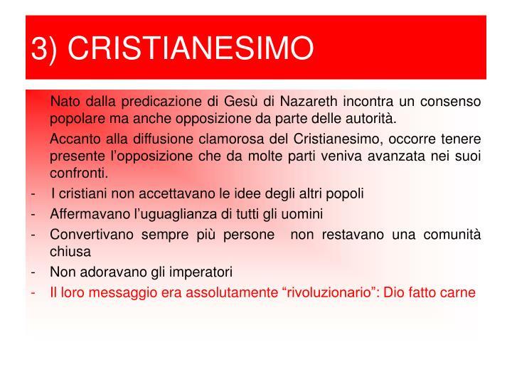 3) CRISTIANESIMO