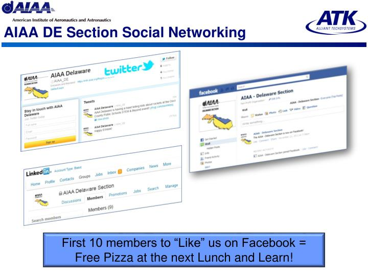 AIAA DE Section Social Networking