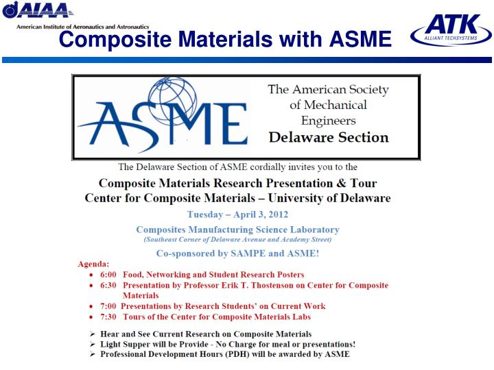 Composite Materials with ASME