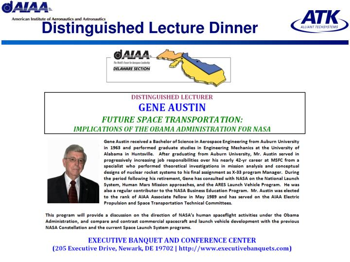 Distinguished Lecture Dinner