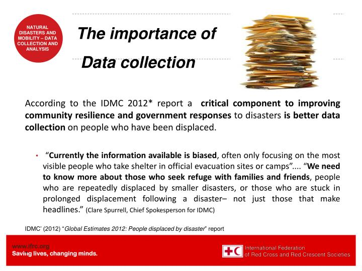 The importance of data collection