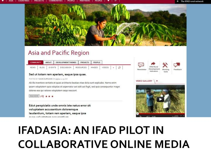 Ifadasia an ifad pilot in collaborative online media