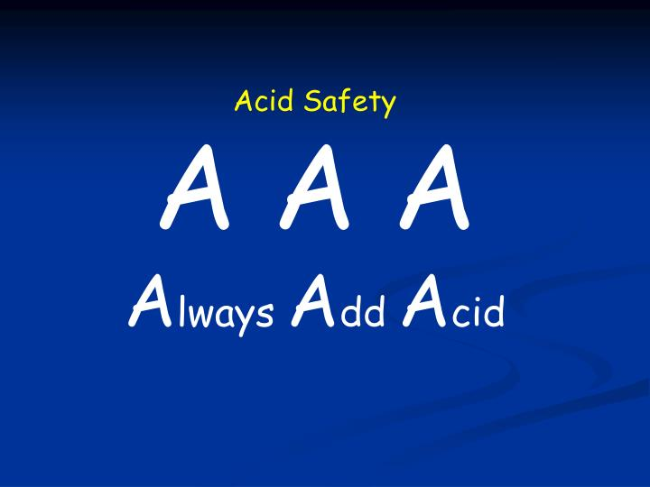 Acid Safety
