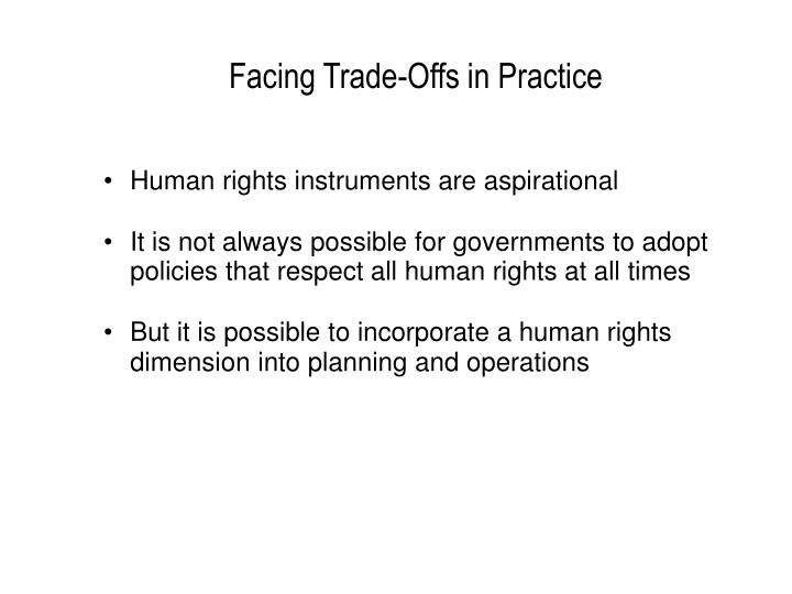 Human rights instruments are