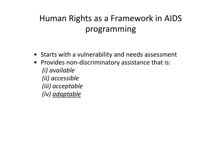 Starts with a vulnerability and needs assessment