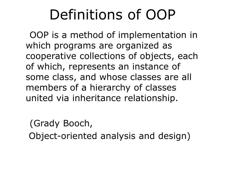 Definitions of oop1