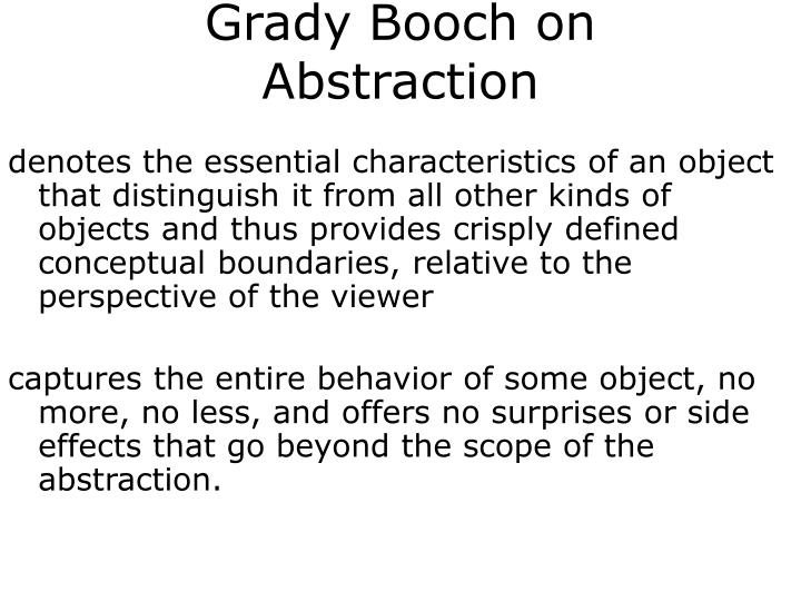 Grady Booch on Abstraction