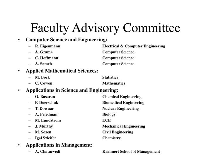 Faculty Advisory Committee