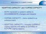 adaptive capacity and coping capacity