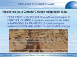 resilience as a climate change adaptation goal