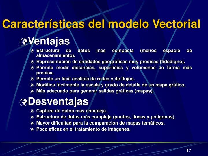 Características del modelo Vectorial