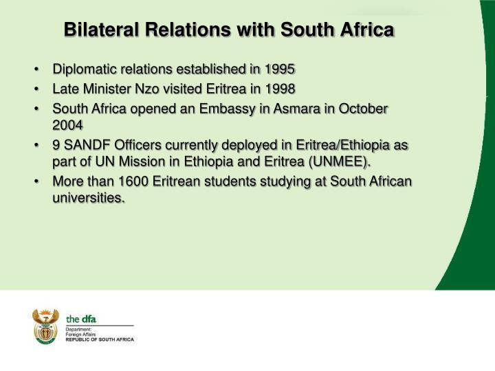 Bilateral Relations with South Africa