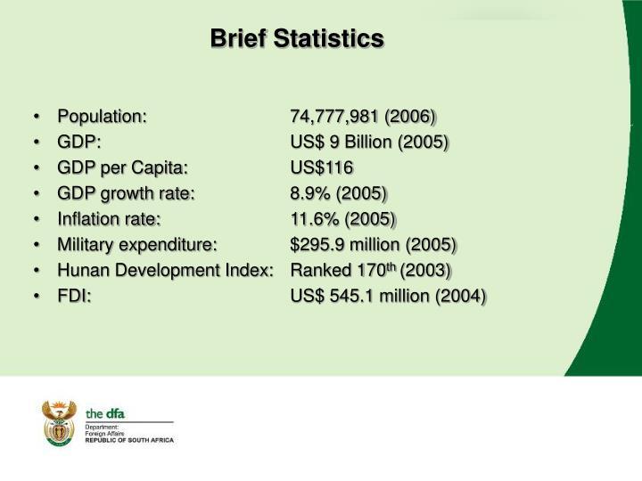 Brief Statistics