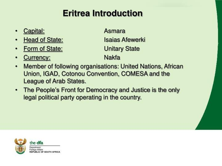 Eritrea Introduction