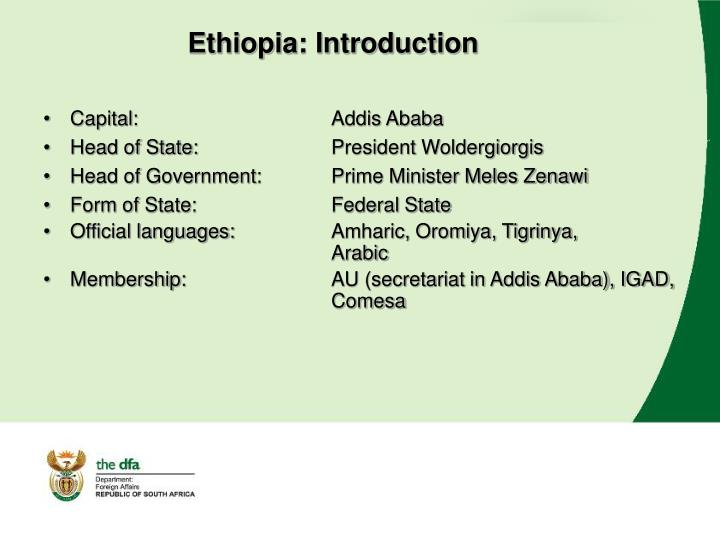 Ethiopia: Introduction