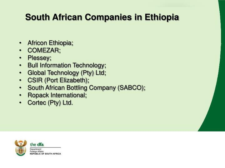 South African Companies in Ethiopia