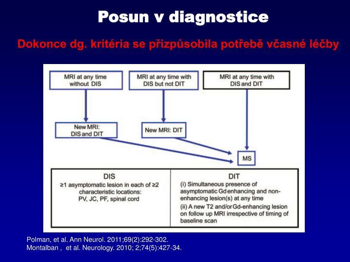 Posun v diagnostice