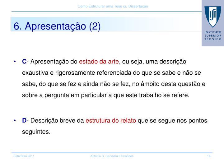 6. Apresentação (2)