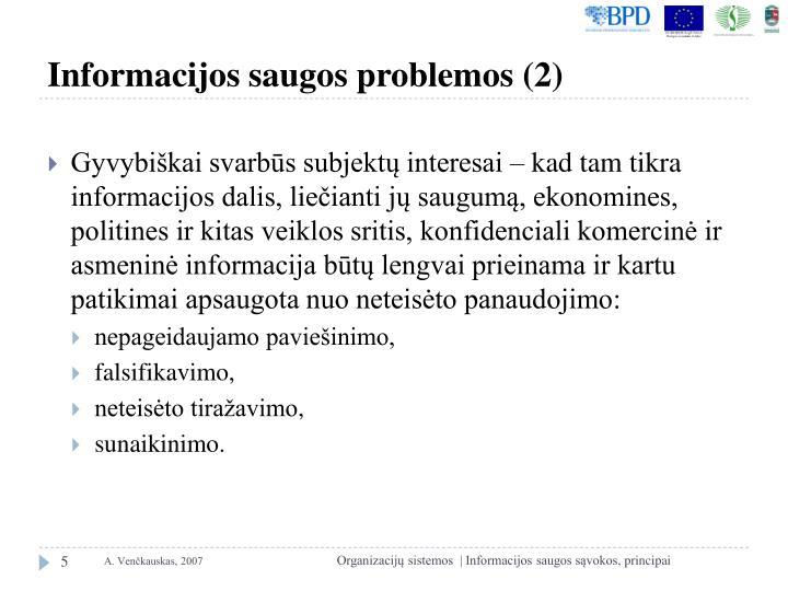 Informacijos saugos problemos