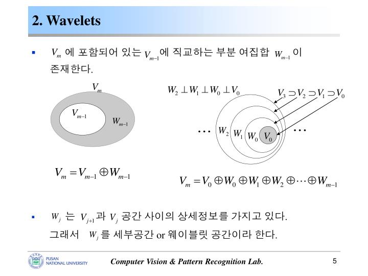 2. Wavelets