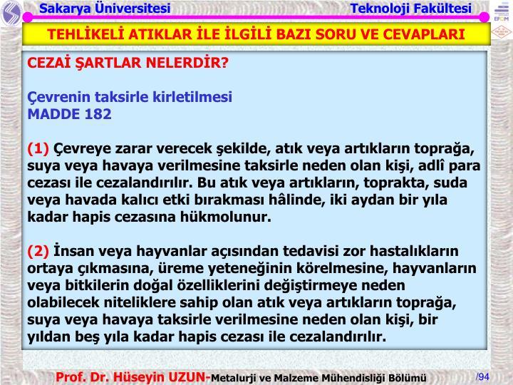 TEHLİKELİ