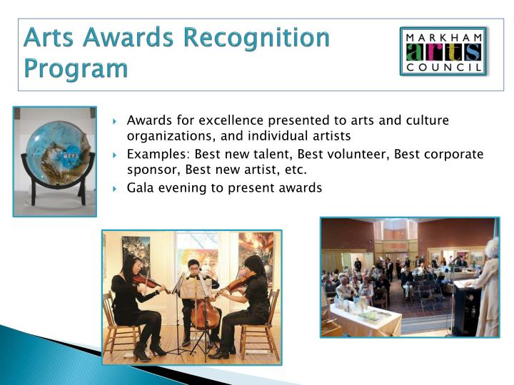 Arts Awards Recognition