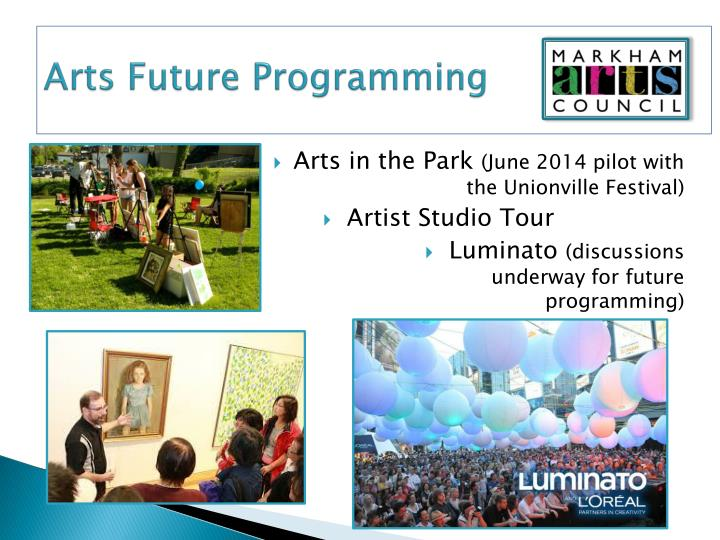 Arts Future Programming