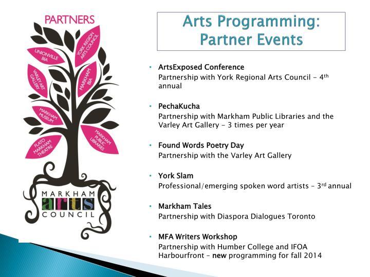 Arts Programming: