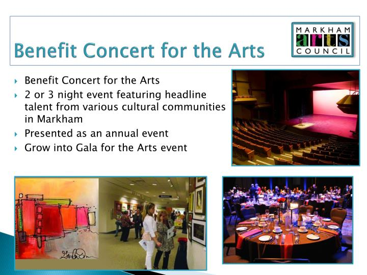 Benefit Concert for the Arts