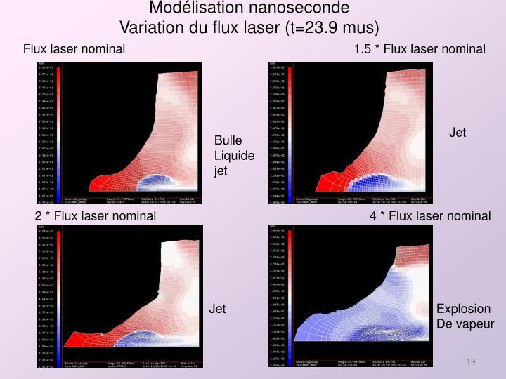 Modélisation nanoseconde