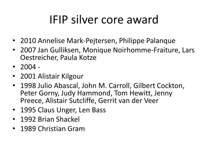 IFIP silver