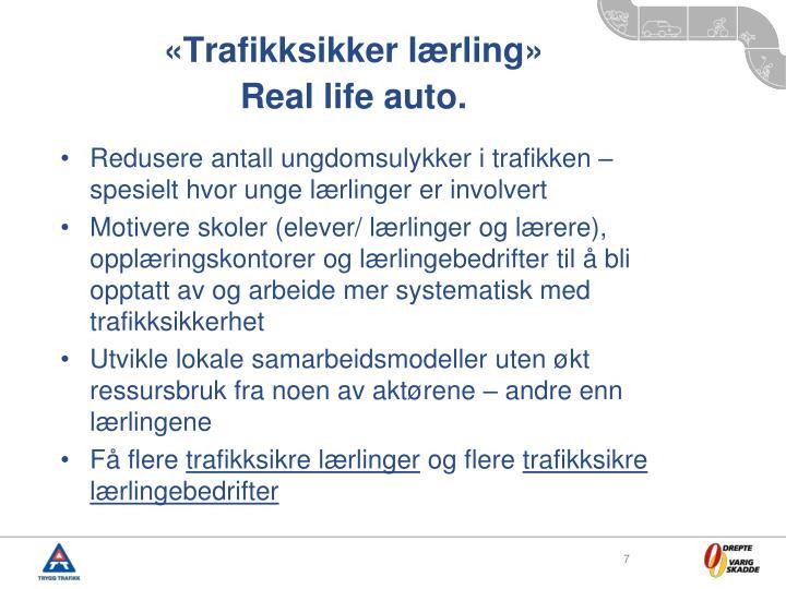 «Trafikksikker lærling»