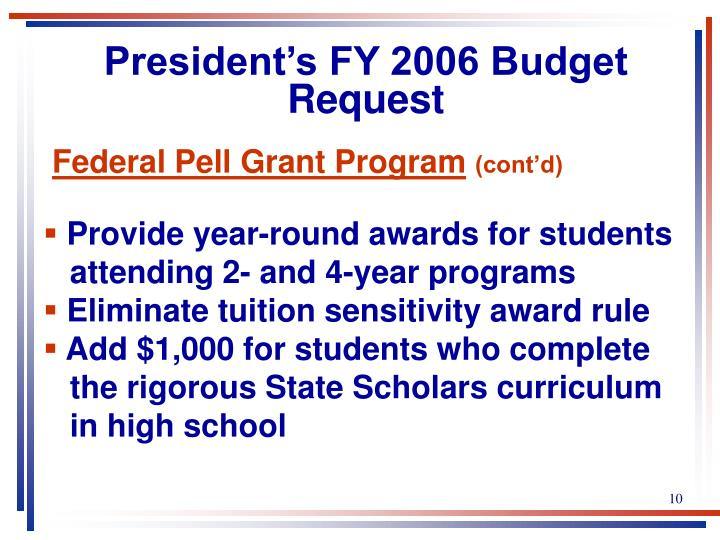 President's FY 2006 Budget Request