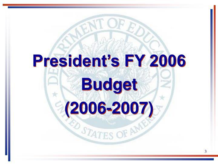 President's FY 2006