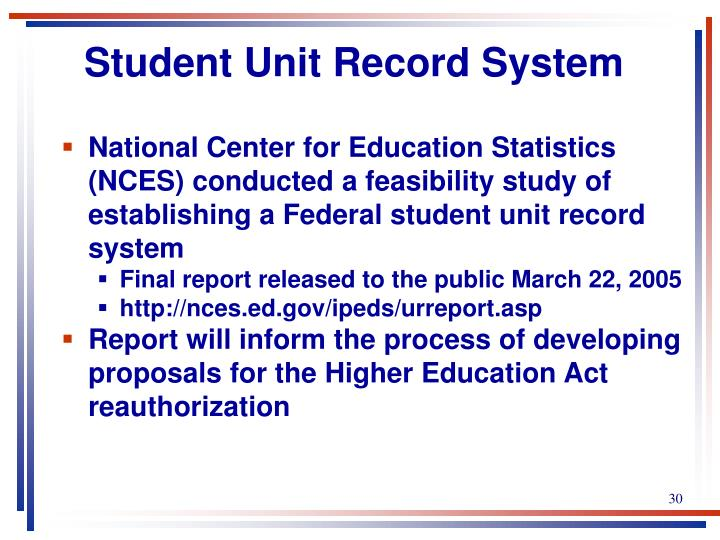 Student Unit Record System