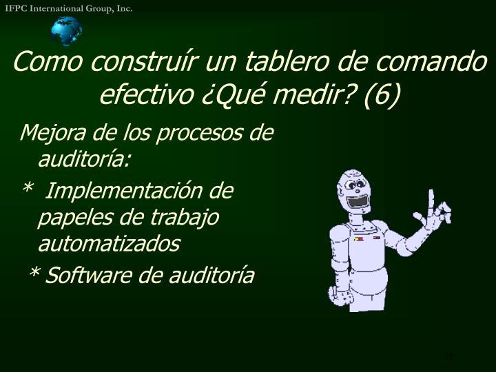 Como construír un tablero de comando efectivo ¿Qué medir? (6)