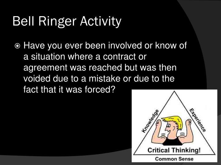 Bell Ringer Activity