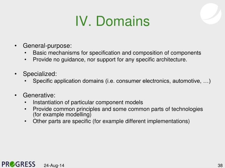 IV. Domains