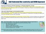 dod federated net centricity and dcmo approach