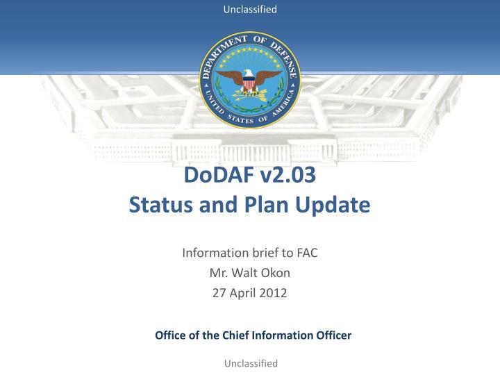 DoDAF v2.03