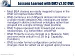 lessons learned with dm2 v2 02 owl
