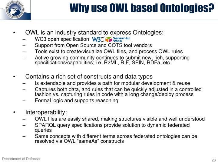 Why use OWL based Ontologies?