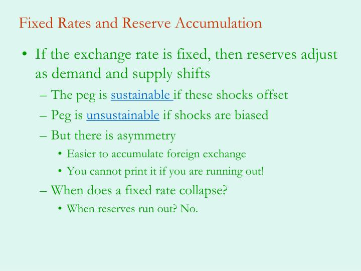 Fixed Rates and Reserve Accumulation