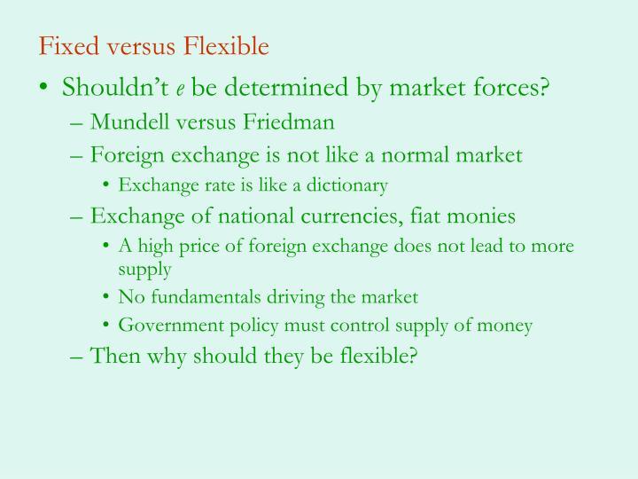 Fixed versus Flexible