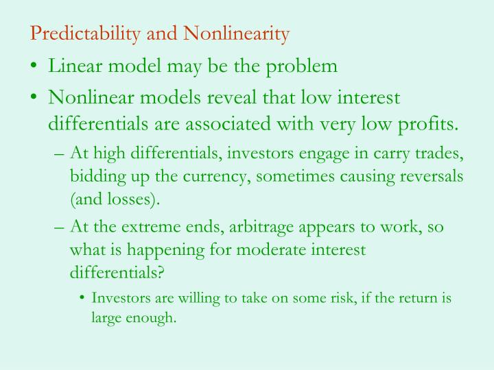 Predictability and Nonlinearity