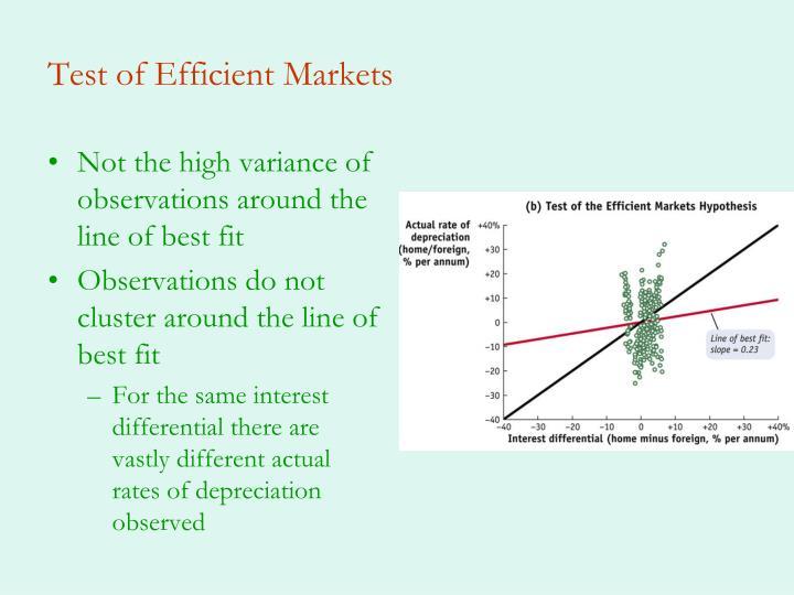 Test of Efficient Markets